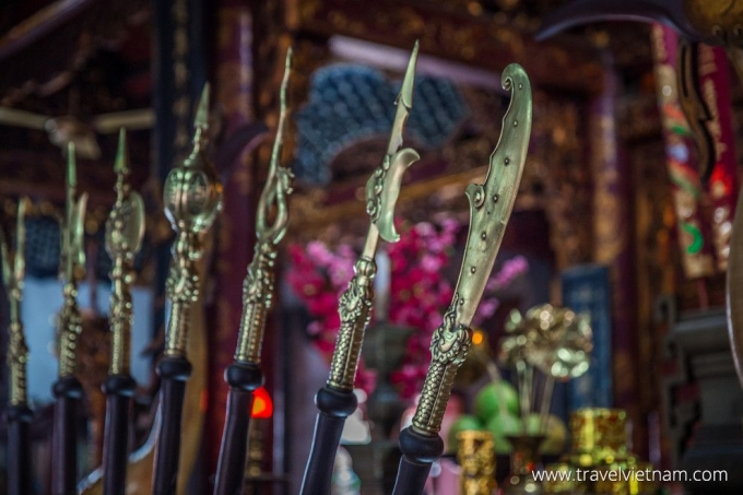 Halberds at Quan Thanh Temple