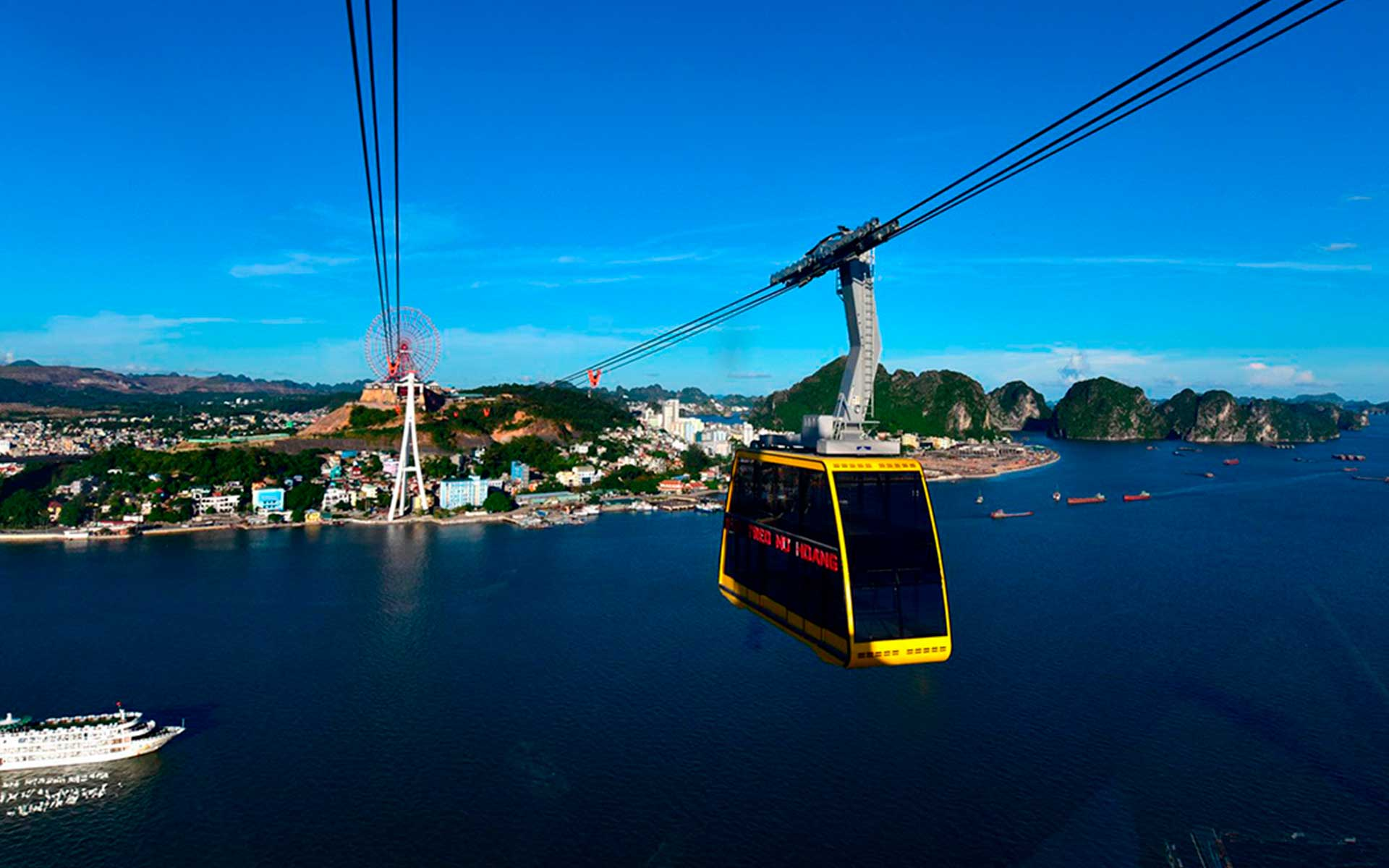 get best photos in halong cable car