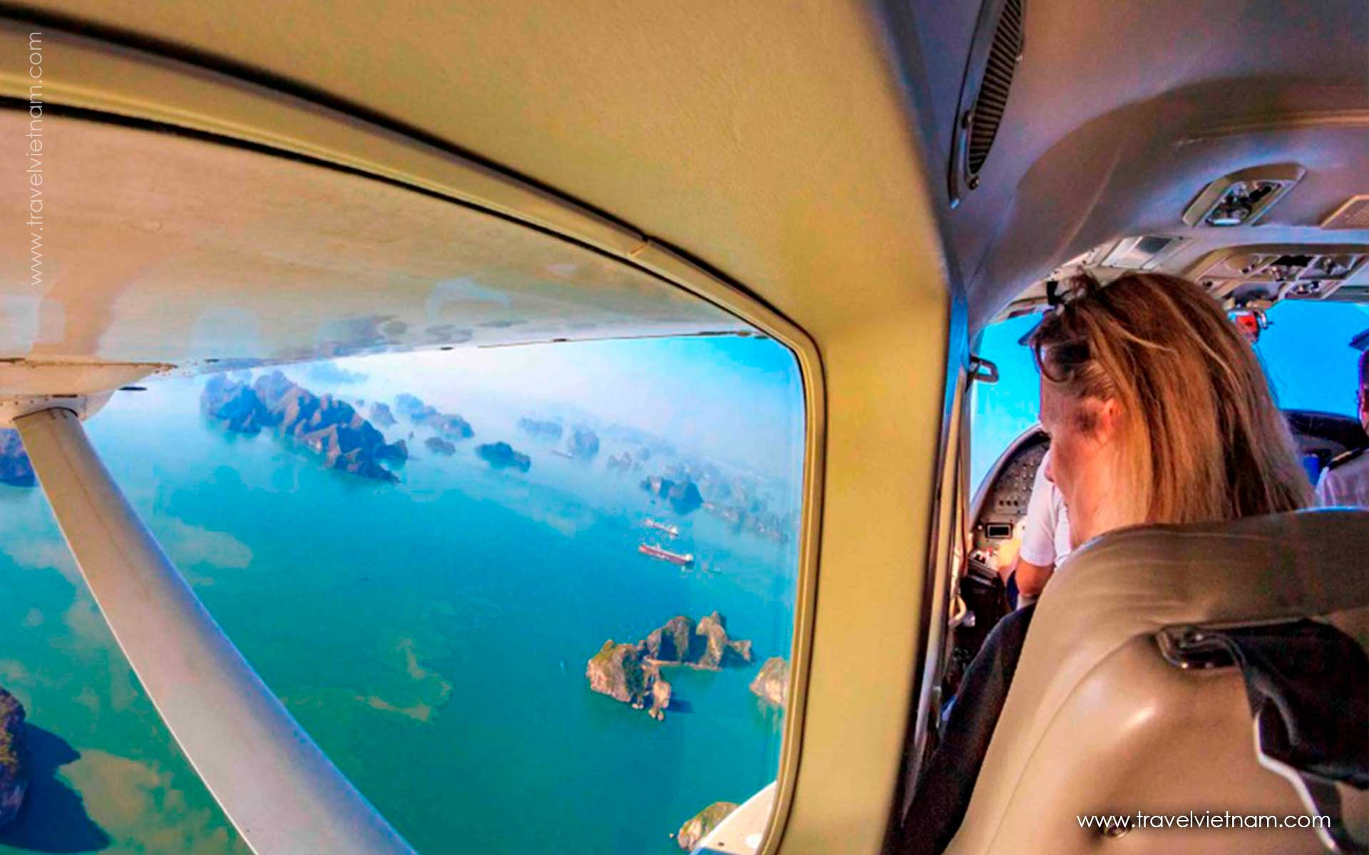 get best photos in halong seaplane