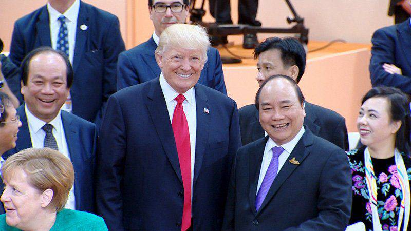 Image result for Trump in Danang
