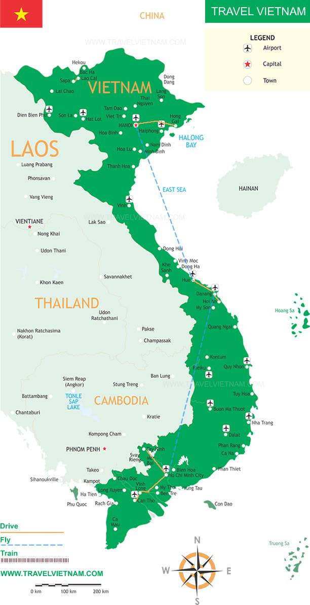 Highlights of Vietnam 8 Days Travel Vietnam – Tourist Attractions Map In Vietnam