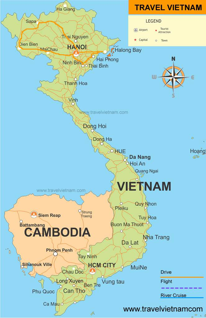 North Vietnam Discovery Map