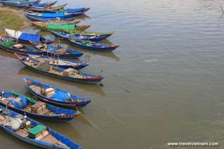 Fishing boats on the sea