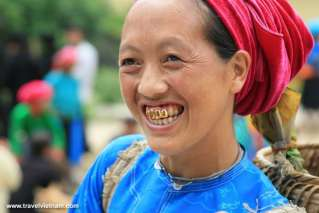 A woman with her smile