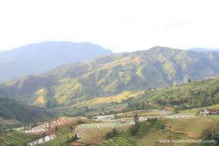 Panoramic view of terrace field in Ha Giang