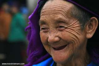 Old tribe women in Ha Giang