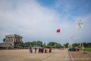 The historic Ba Dinh Square in front of Ho Chi Minh Mausoleum