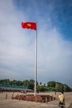 Flag pole on Ba Dinh Square