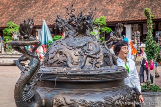 Ancient bronze incense burner at the Temple of Literature
