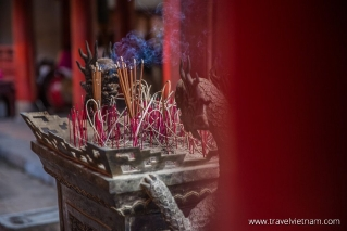 Incense burns outside Great House of Ceremonies