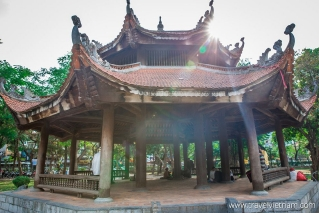 Octagonal house in Giam garden