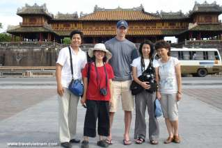 Foreign tourists visiting Imperial City