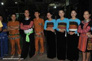Traditional costume of local people