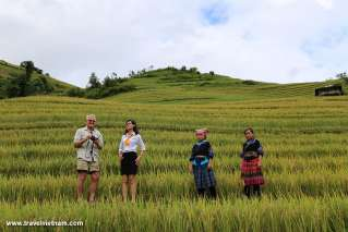 Our travel consultants escort our guest to Mu Cang Chai
