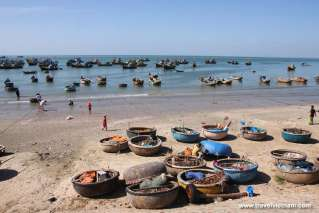 Fishing village on Mui Ne beach
