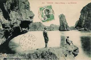 Old Halong on the stamp