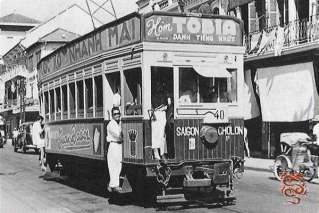 Tram in the Old Saigon
