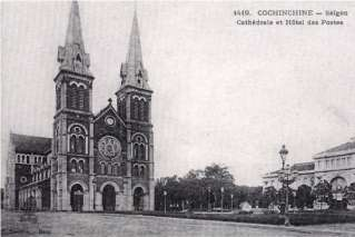 Notre dame cathedral Saigon in the past