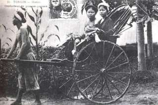 Rickshaw in the Old Saigon
