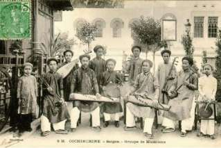Group of musicians in the past