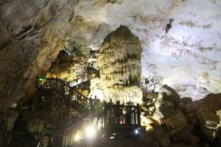 Steps to the heaven in Paradise Cave
