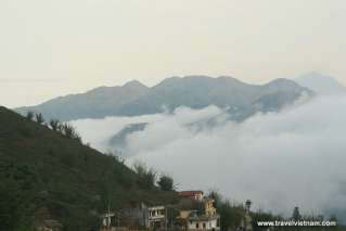 Beautiful mountain landscape in Sapa