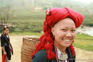 A Red Dao lassie in Sapa