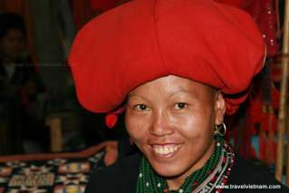 A Red Dao woman in Sapa