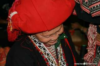 Beautiful smile of Red Dao woman