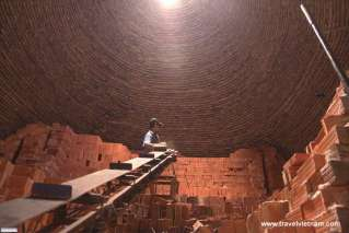 Brick factory in Vinh Long