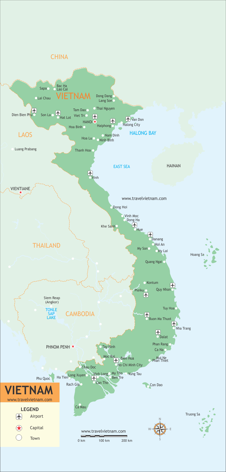 Vietnam Travel Maps by TravelVietnam.Com
