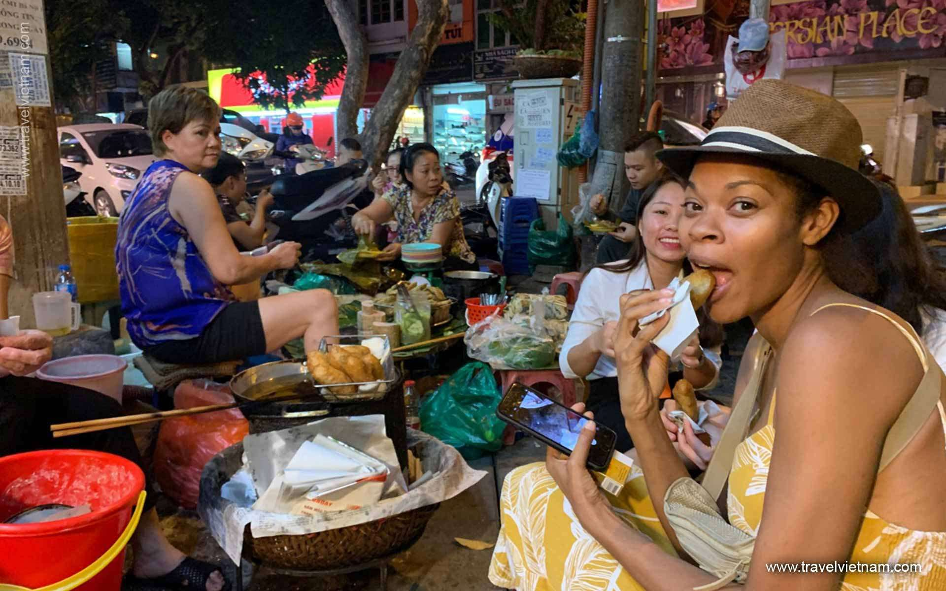 Taste street food in Hanoi