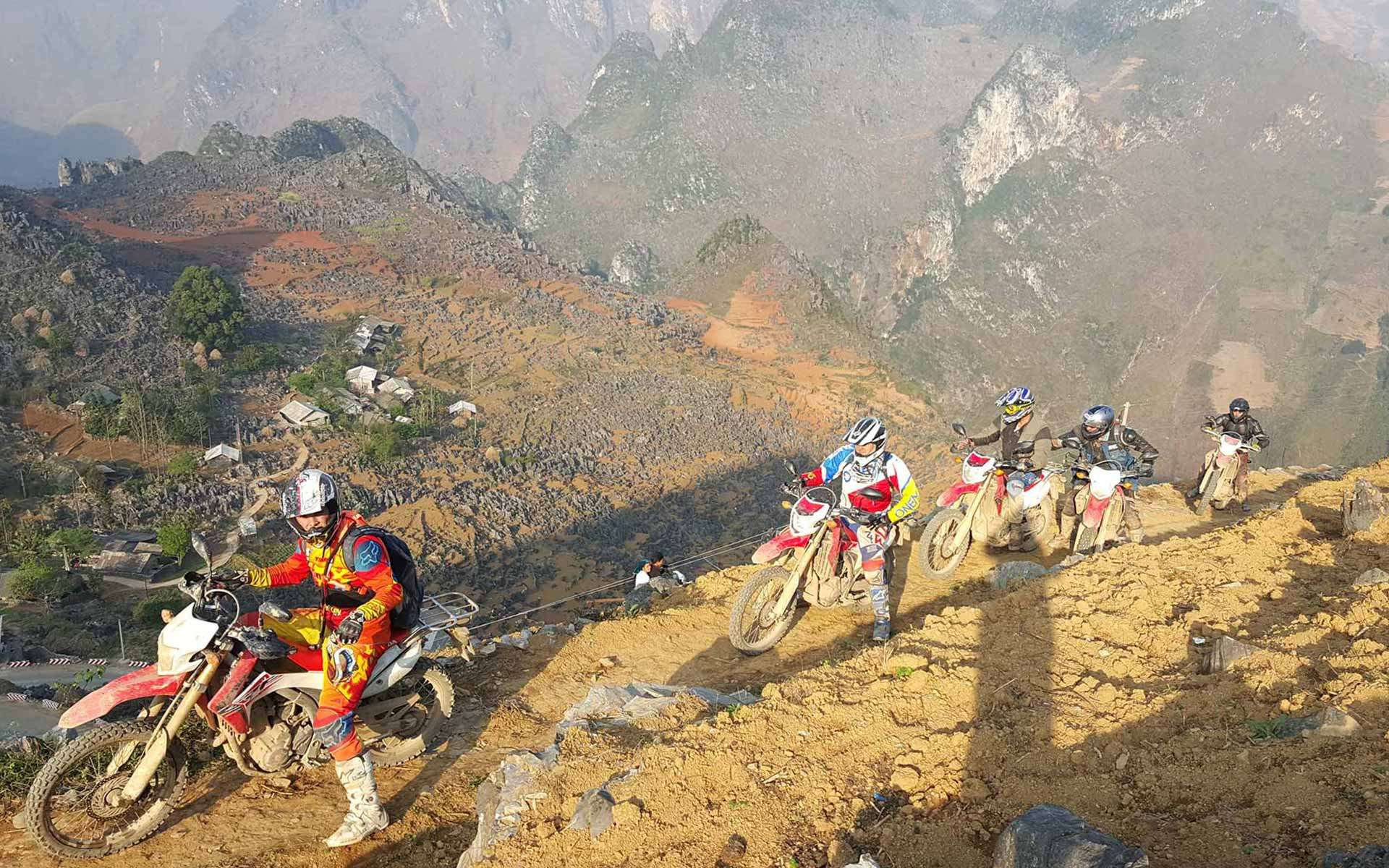 Motor bike in Ha Giang