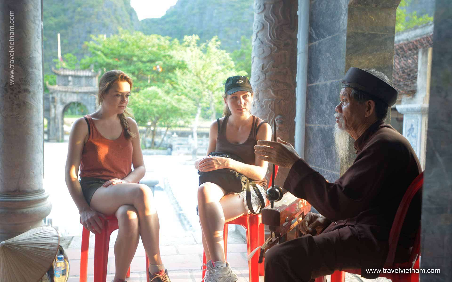 Meeting an talking local people