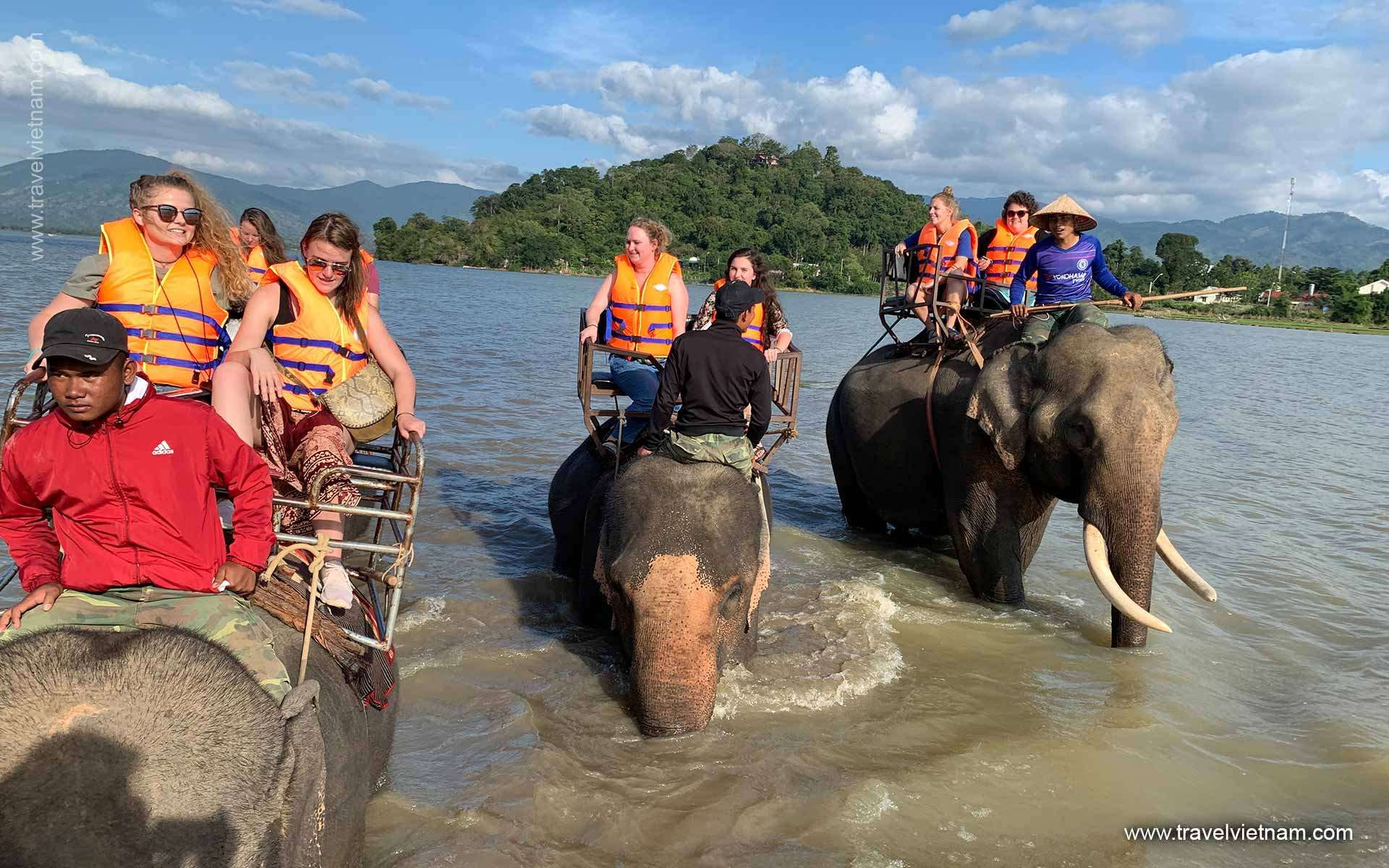 Riding Elephant in Buon Me Thuot