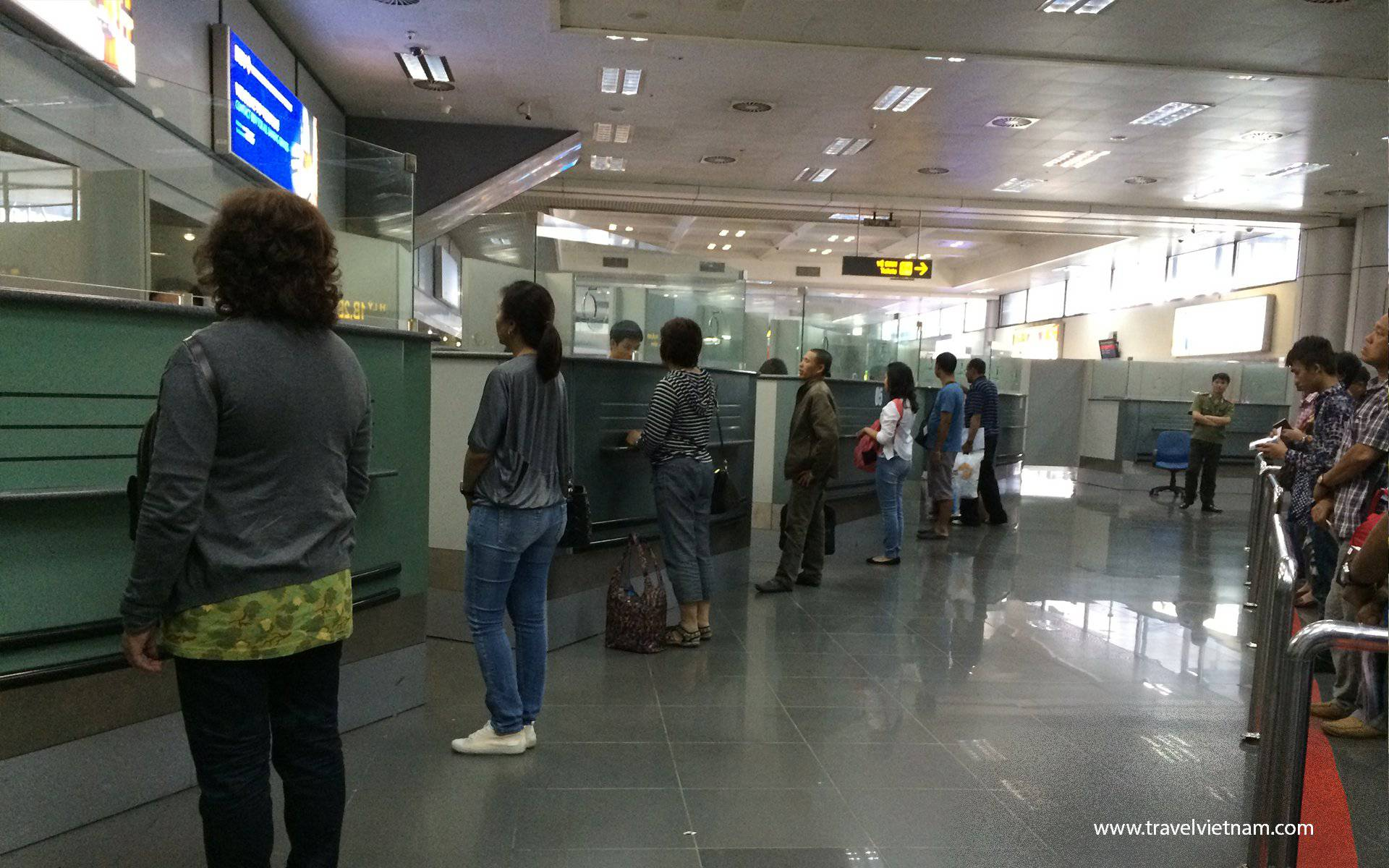 Immigration Counter at Noi Bai airport