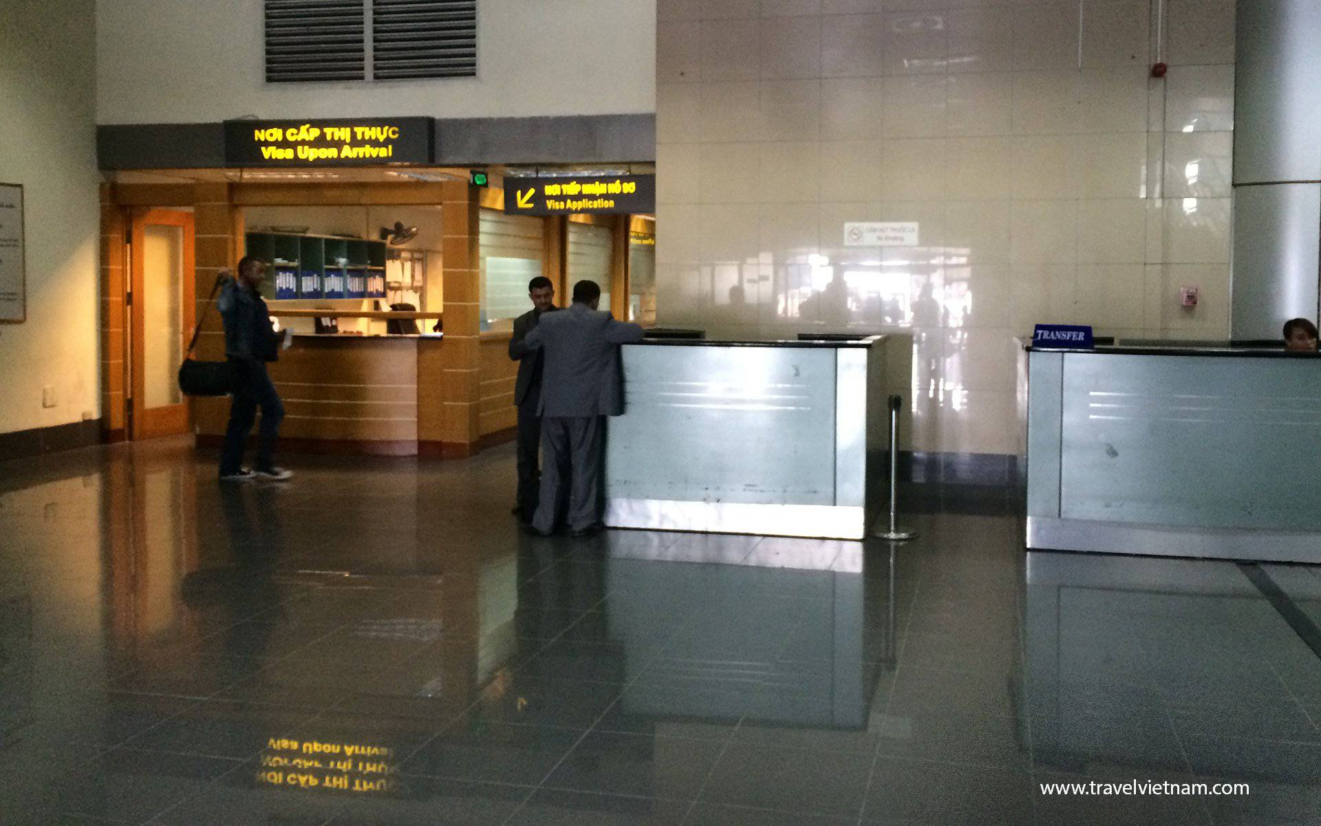 Visa On Arrival Desk at Noi Bai Airport