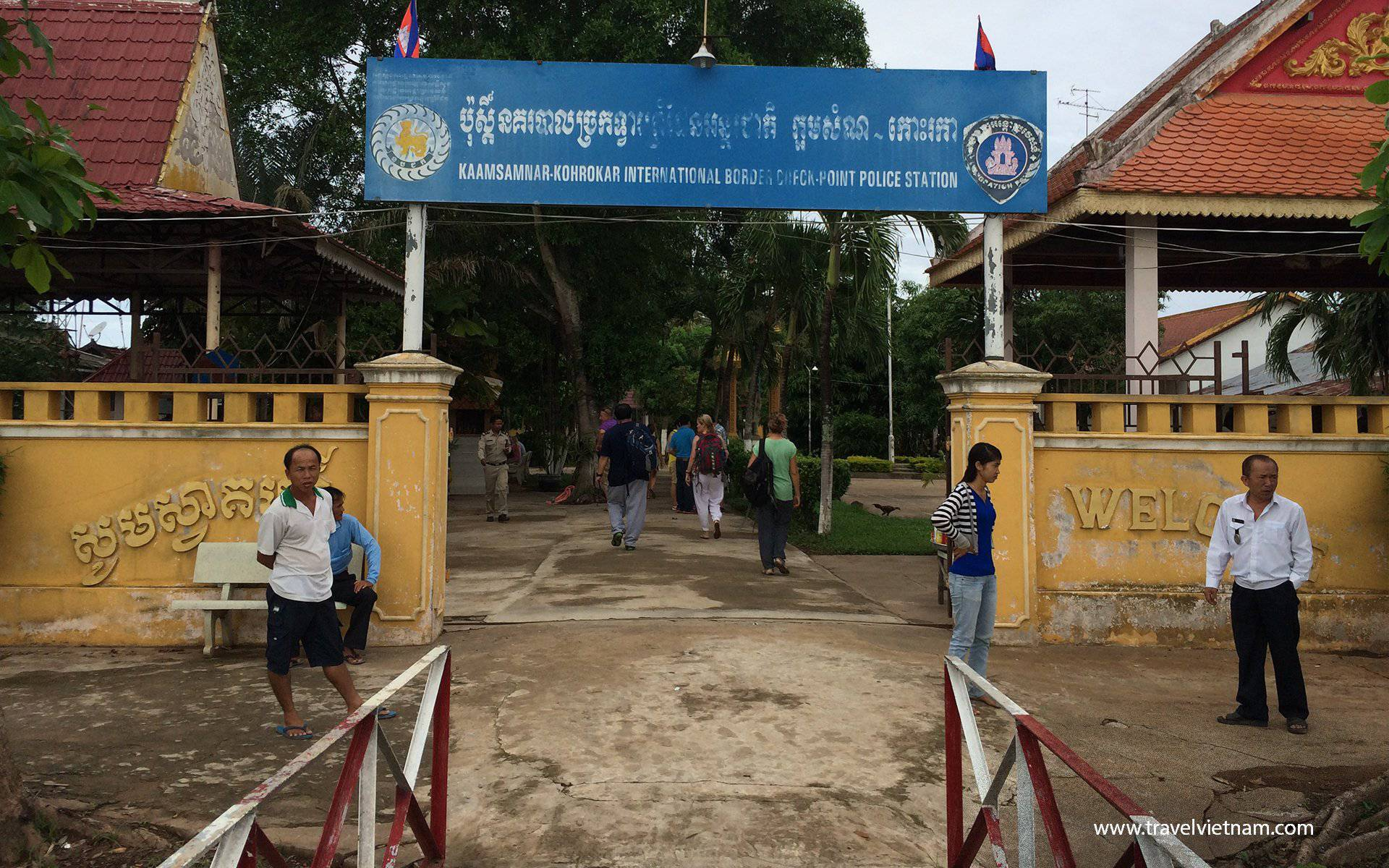 Immigration Counter at Vinh Suong( Chau Doc) border from Cambodia to Vietnam
